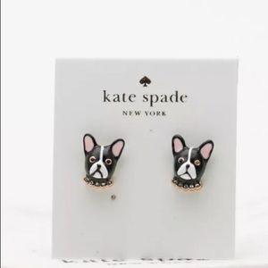 Kate Spade Ma CherieFrench Bulldog Mini earrings